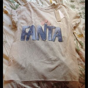 NEW! Vintage FANTA acid wash tee